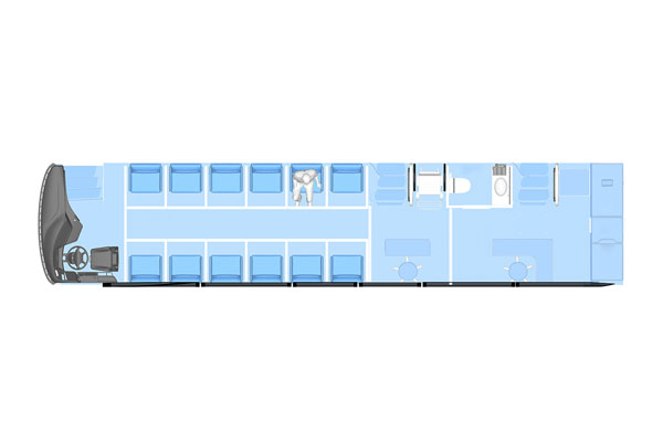 Plan of 12 Seat-type Isolating Compartments